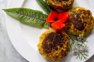 zucchini fritters BLE no flour