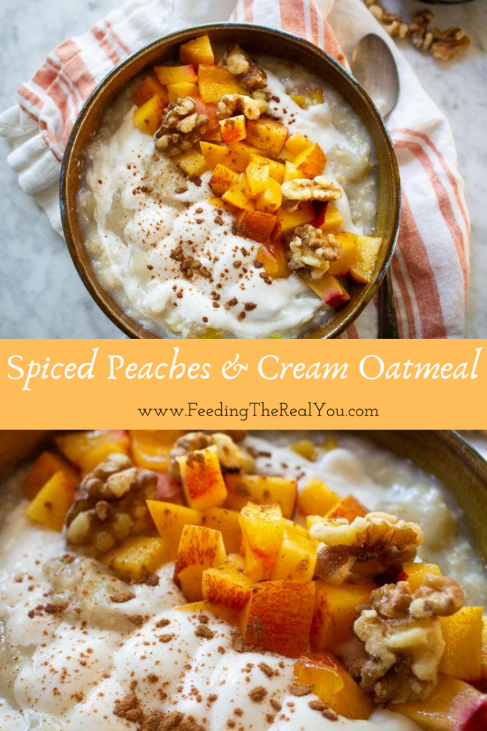 Spiced Peaches and Cream Oatmeal