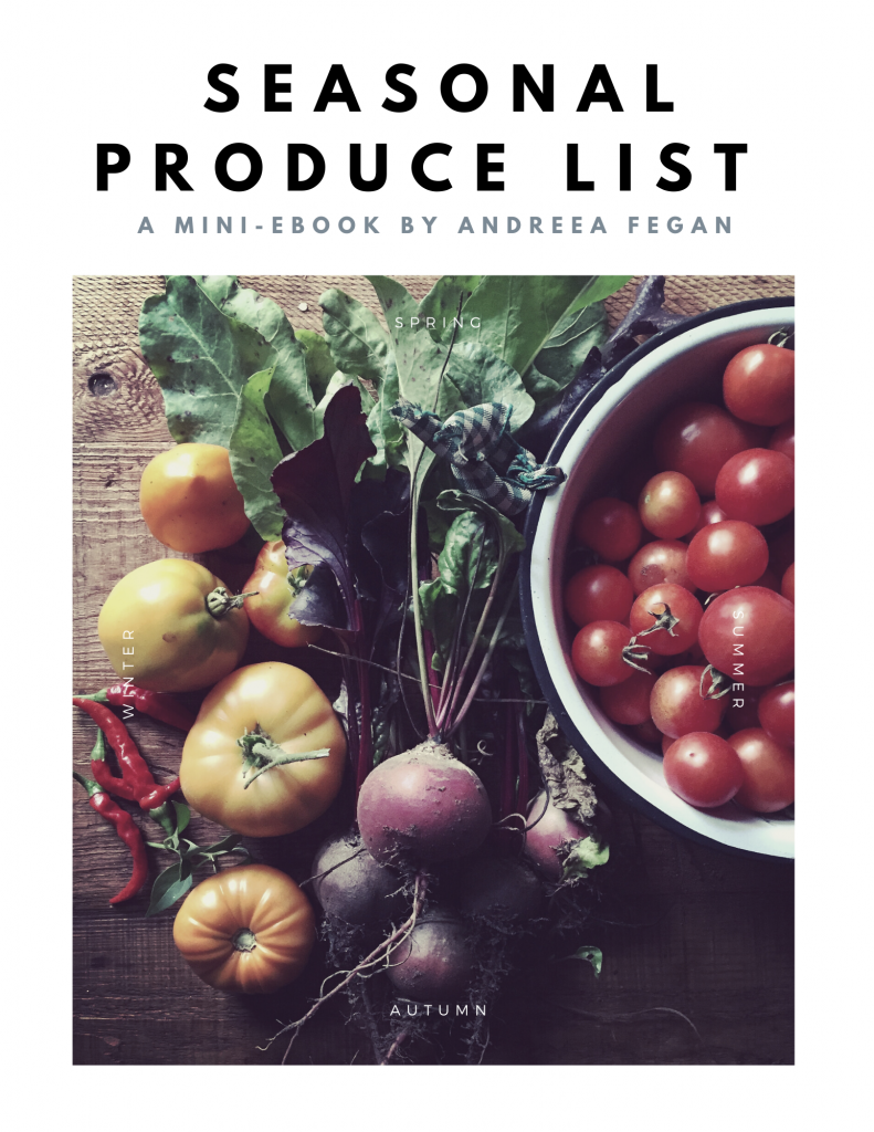 Seasonal Produce List