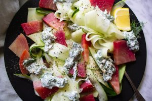 Summer Cucumber Salad Herbed Yogurt